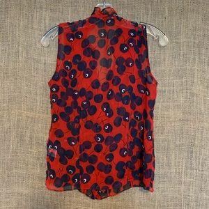 Nanette Lepore Tops - Nanette Lepore Sleeveless Red Cherry Top Ruffles 2